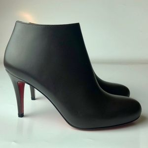 Louboutin Belle 85 Taupe Ankle Boots Euro 35.5